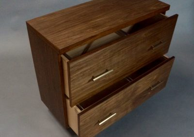 Walnut Lateral File Cabinet