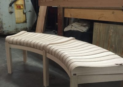 Curved Entry Bench