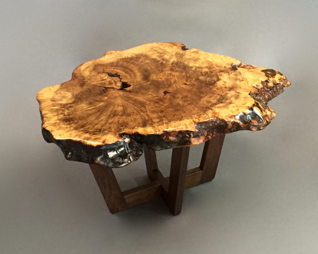 Elm Slab End Table