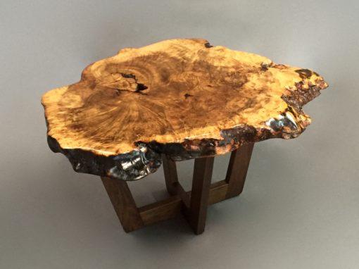 Elm Slab End Table
