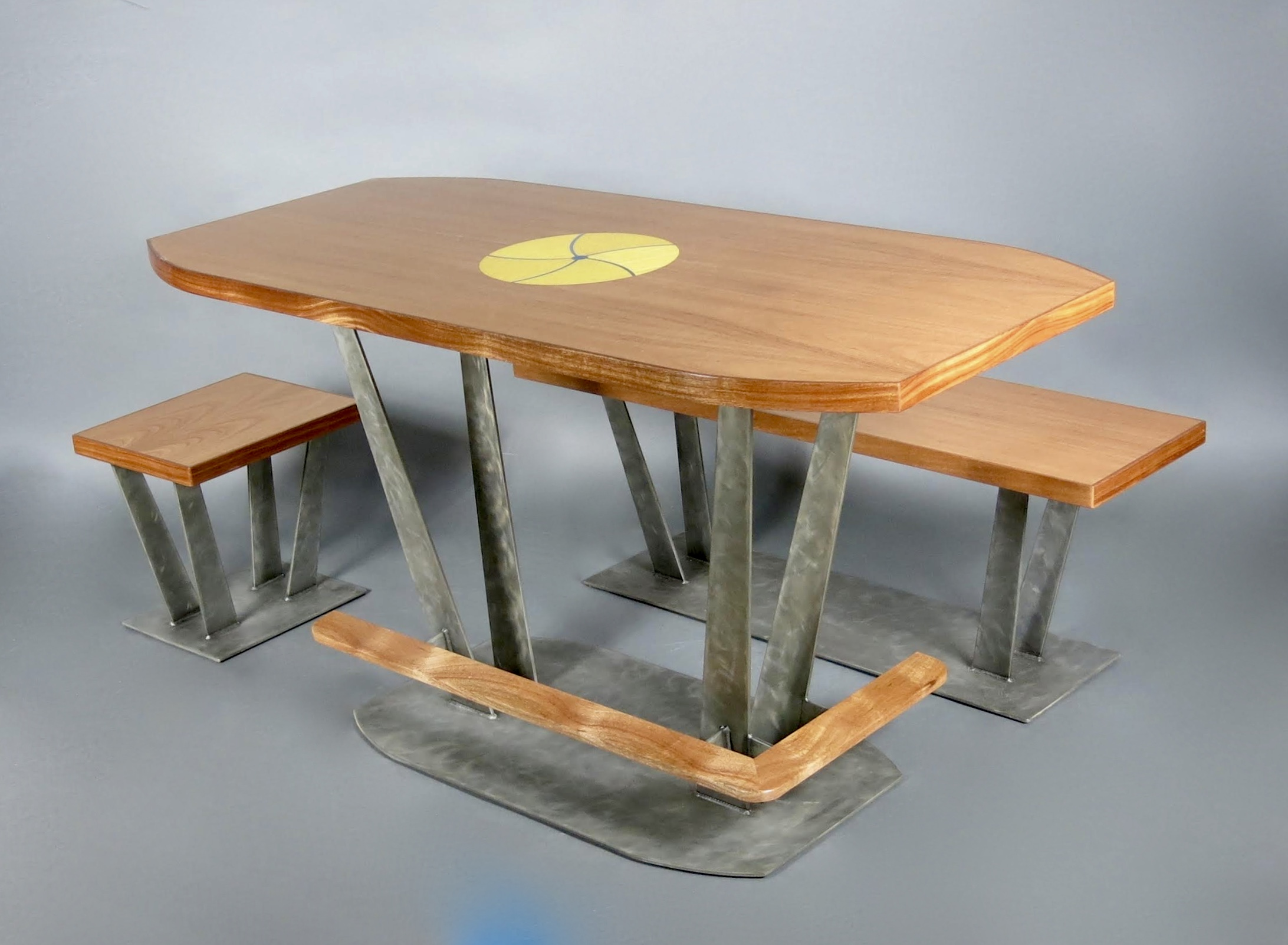 Marquetry Inlay Dining Set