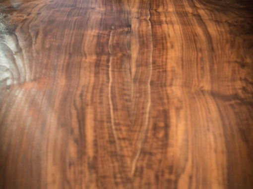 Book-matched Claro Walnut Slab Dining Table 5'x10′