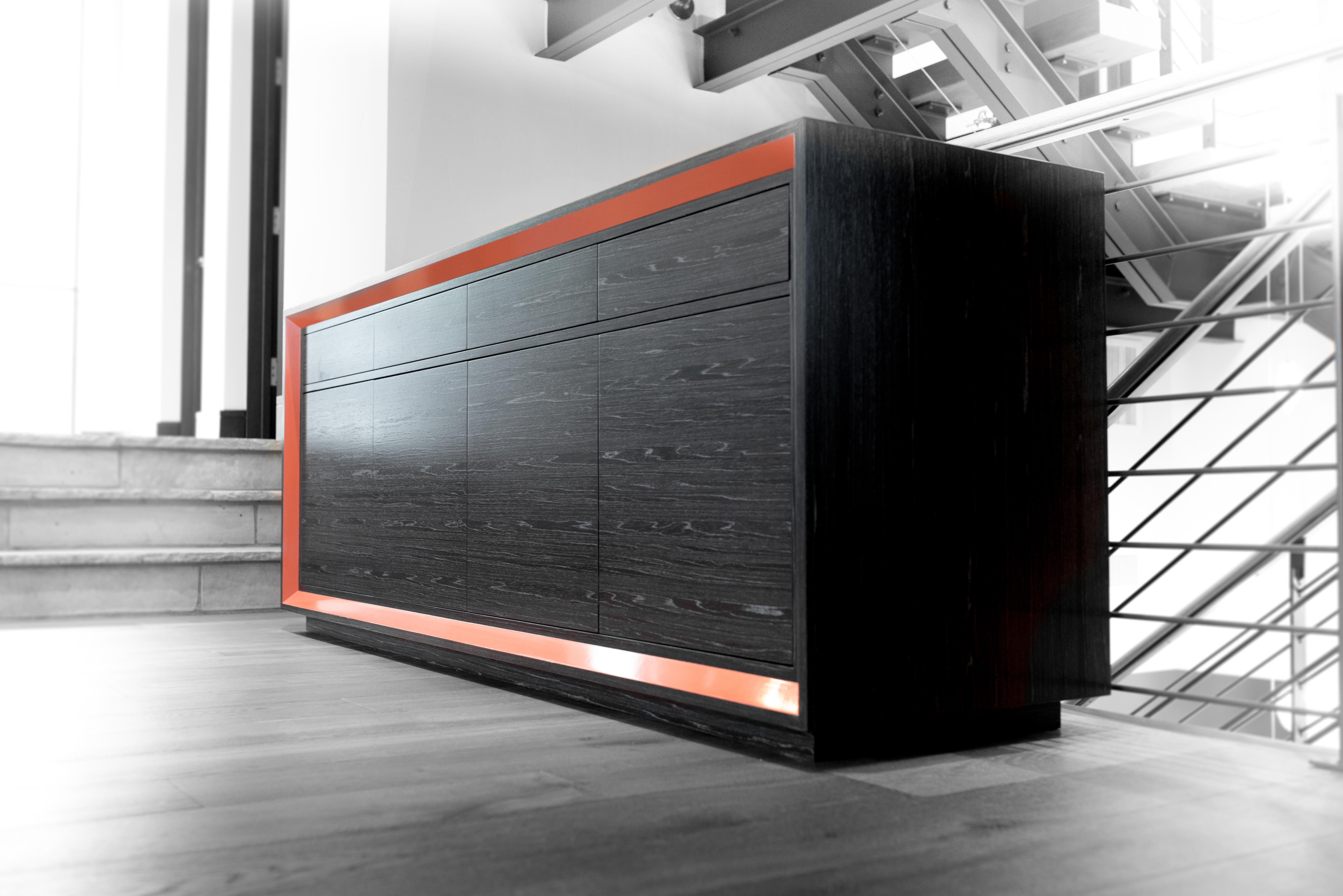 Burled Hallway Cabinet