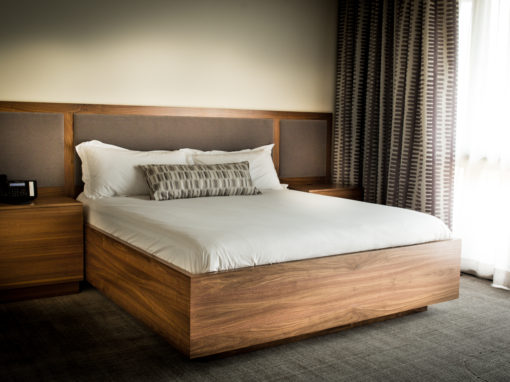 Frame & Panel Black Walnut Bed w/ Surround