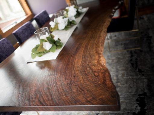 Claro Walnut Dining Table 5′ x 10′